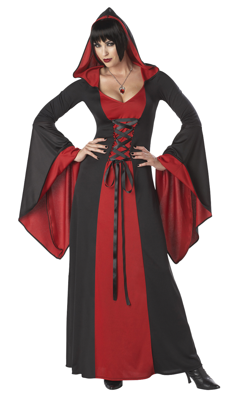 Deluxe Halloween Hooded Robe RED