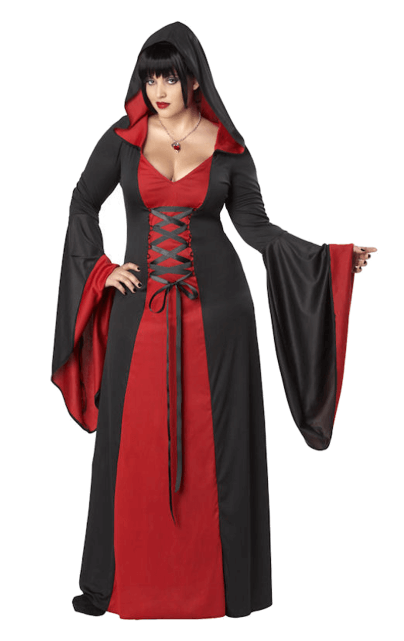 Women's Deluxe Hooded Robe RED (Plus Size)