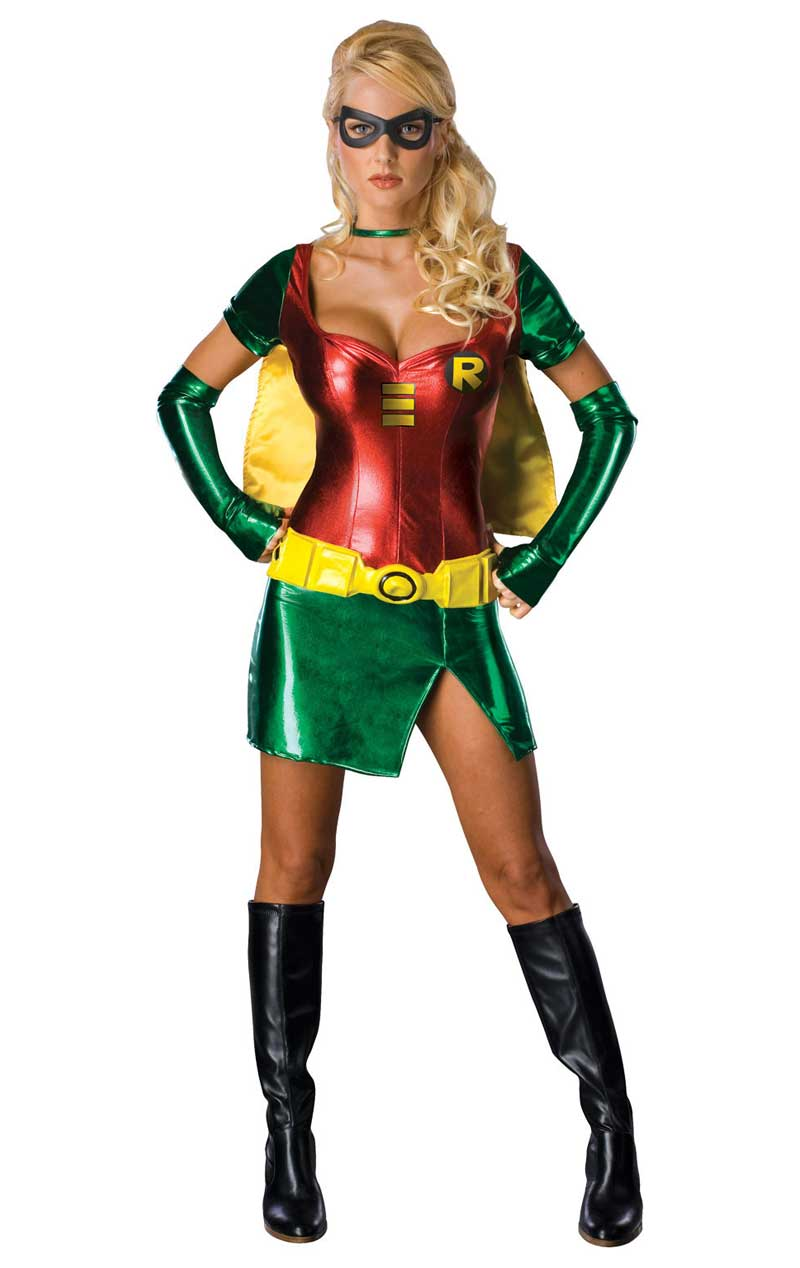 Adult Sexy Robin Super Hero Costume - Simply Fancy Dress