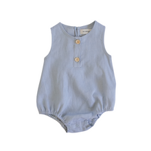 Load image into Gallery viewer, Linen Bubble Romper - Ocean
