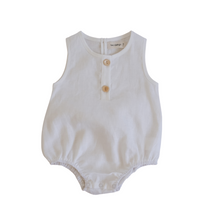 Load image into Gallery viewer, Linen Bubble Romper - Coconut