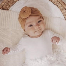 Load image into Gallery viewer, Baby Knot Turban - Dark Mustard