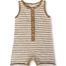 Load image into Gallery viewer, Slub Linen Playsuit - Harvest Gold / Oat