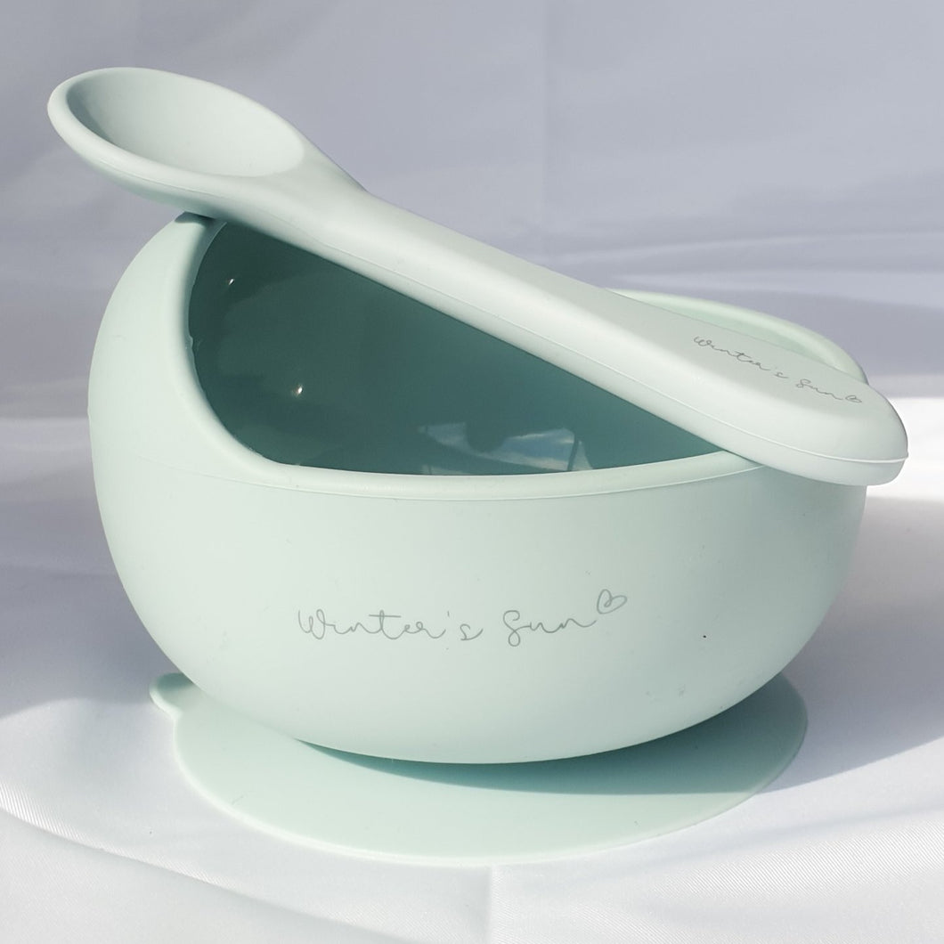 Silicone Suction Bowl - Little Blue