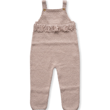 Load image into Gallery viewer, Yarn Frill Overalls - Rose