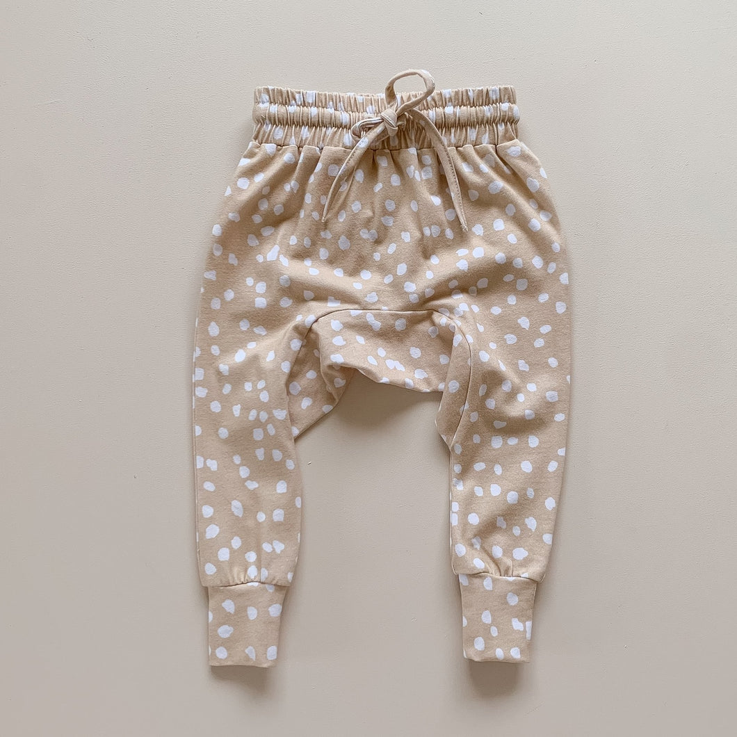 Bamboo Harem Pants - Latte Speckle