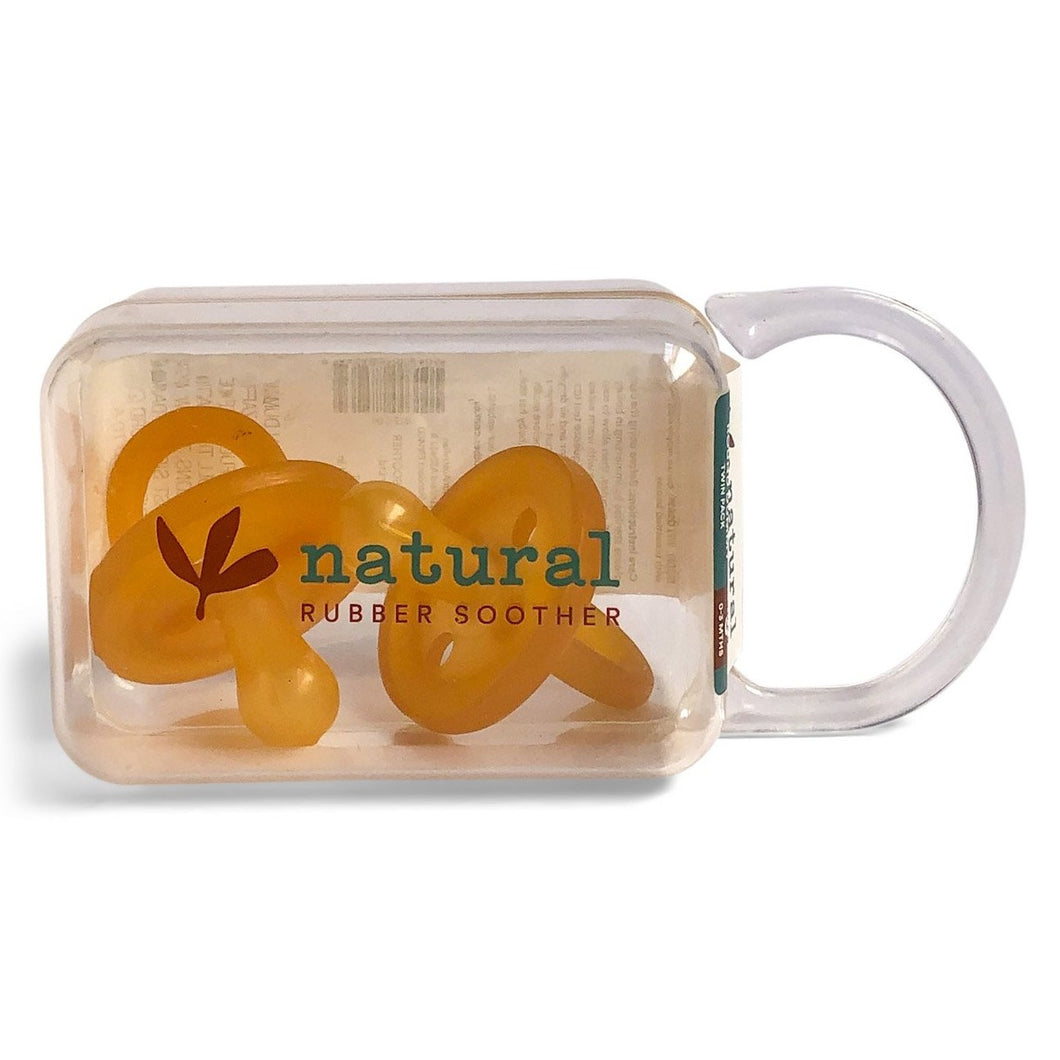 Natural Rubber Soother - Twin