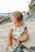Load image into Gallery viewer, Ruffled Neck Playsuit - Sand