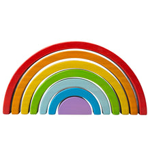 Load image into Gallery viewer, Wooden Stacking Rainbow - Small