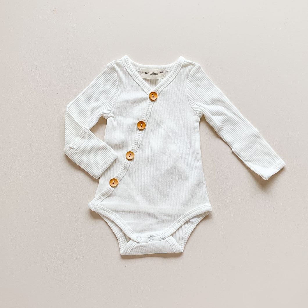 Long Sleeve Bodysuit - Milk