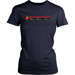 Sacred Heart Radio Womens T-Shirt - Large Logo Extended sizes