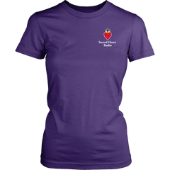 Sacred Heart Radio Womens T-Shirt - Small Logo Extended sizes