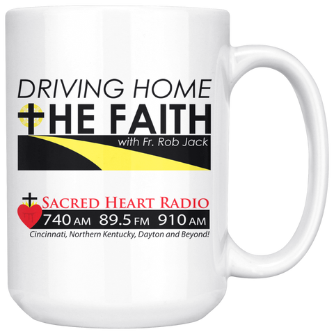Premium - Driving Home the Faith - Large Coffee Mug