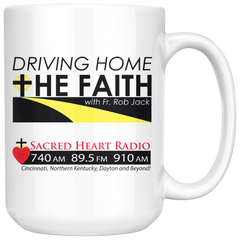 Driving Home the Faith - Large Coffee Mug