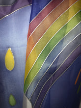 Load image into Gallery viewer, Rainbow Design Long Silk Scarf : Hand Painted Silk