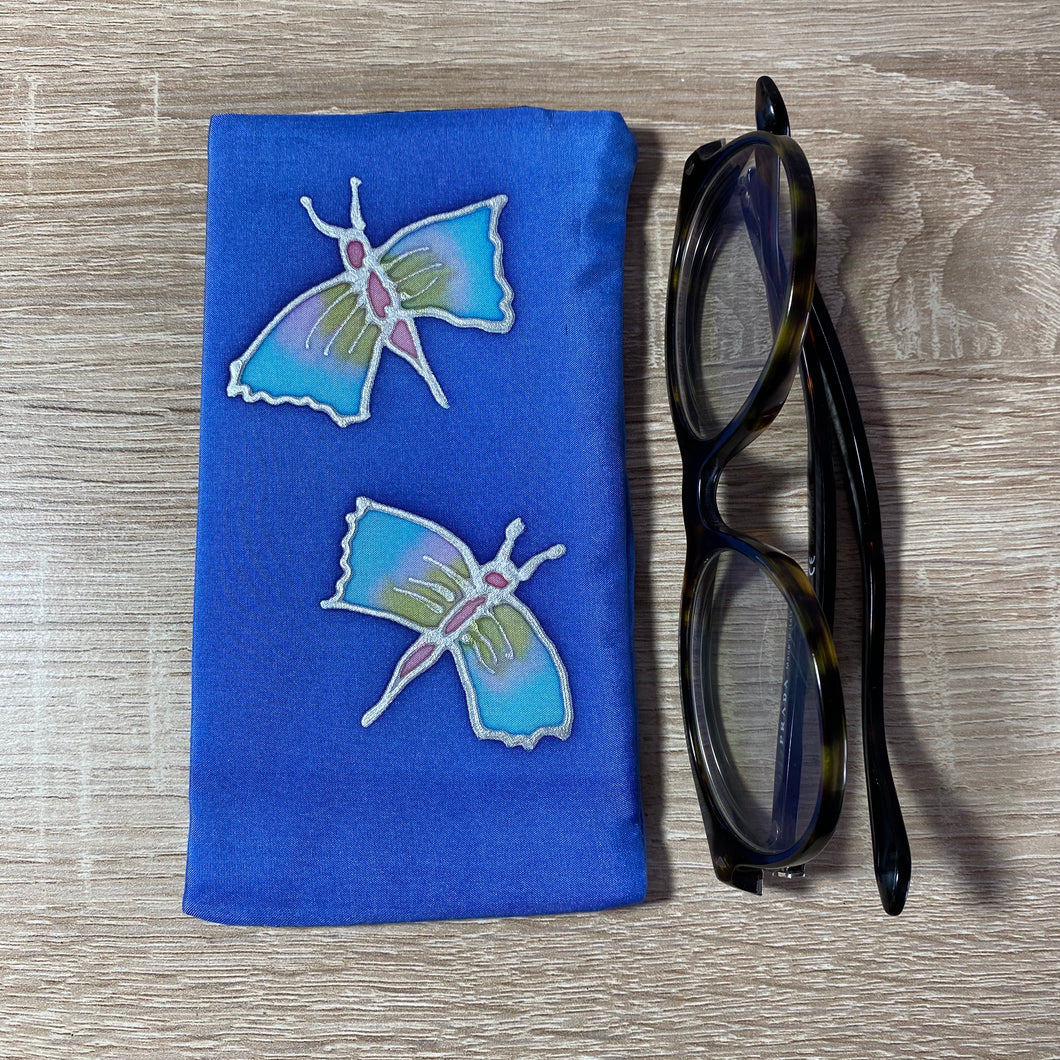 Butterfly Design Glasses Hand painted Silk
