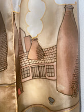 Load image into Gallery viewer, Potteries Design X Long Silk Scarf in Sepia : Hand Painted Silk