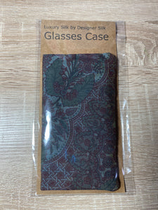Vintage Silk Fabric Glasses Case
