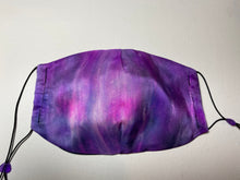 Load image into Gallery viewer, Hand Dyed Silk Face Covering/Mask in Purples