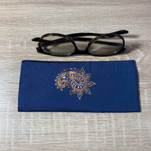 Load image into Gallery viewer, Paisley Medium Design Glasses Hand Printed Silk