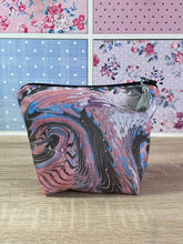 Load image into Gallery viewer, Marbled Silk Cosmetics Purse : Hand Dyed Silk