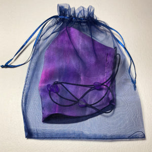 Hand Dyed Silk Face Covering/Mask in Purples