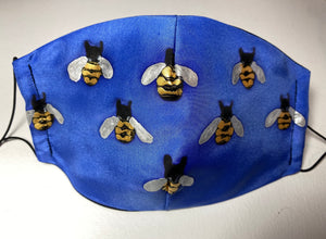 Bees Design Hand Painted Silk Face Covering/Mask