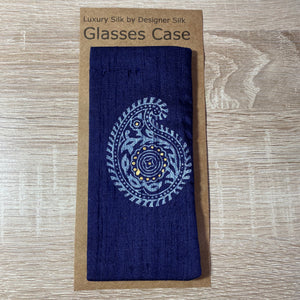 Paisley Large Design Glasses Hand Printed Silk