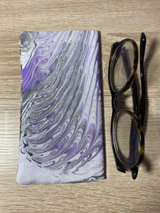 Marbled Silk Glasses Case : Hand Dyed Silk