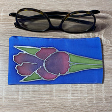 Load image into Gallery viewer, Iris Design Glasses Hand painted Silk