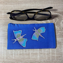 Load image into Gallery viewer, Butterfly Design Glasses Hand painted Silk
