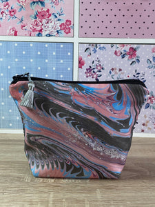 Marbled Silk Cosmetics Purse : Hand Dyed Silk