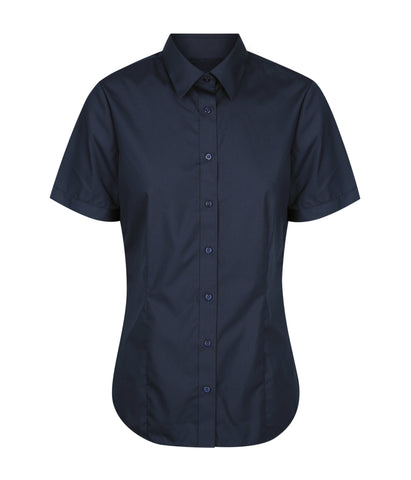 Womens Premium Poplin Short Sleeve Shirt