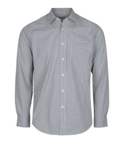 Mens Gingham Long Sleeve Shirt