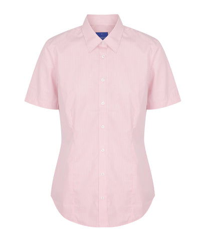 Womens Gingham Short Sleeve Shirt