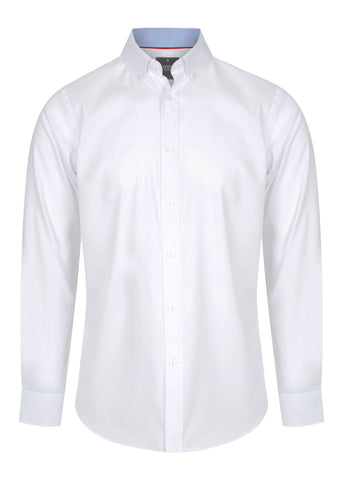 Mens Fine Oxford Long Sleeve Slim Fit Shirt