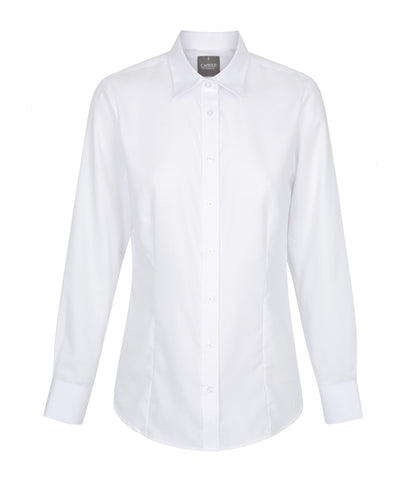Womens White Long Sleeve Shirt