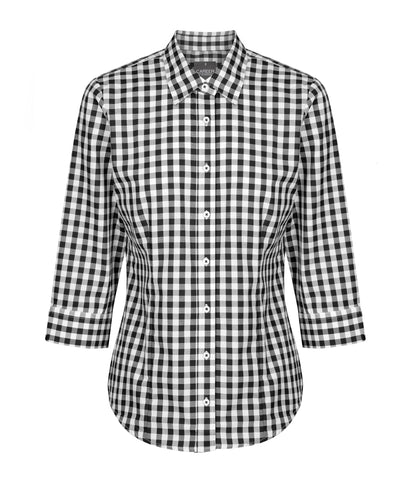 Womens Royal Oxford 3/4 Sleeve Shirt