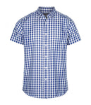 Mens Royal Oxford Short Sleeve Casual Slim Fit Shirt