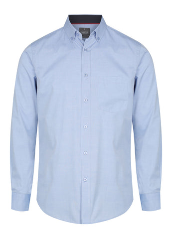 Mens Fine Oxford Long Sleeve Shirt