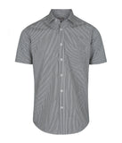 Mens Gingham Short Sleeve Shirt