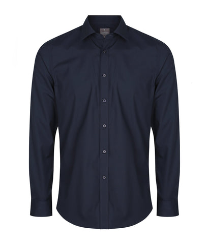 Mens Premium Poplin Slim-Fit Shirt