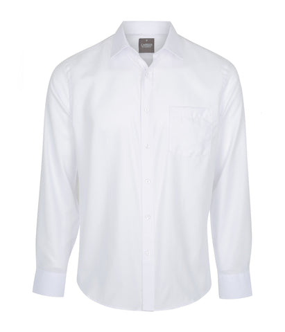 Mens White Slim-Fit Shirt