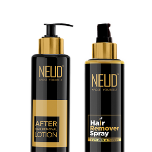NEUD Combo Hair Remover Spray (100 ml) and After-Hair-Removal Lotion (100 gm) for Skin Care in Men & Women