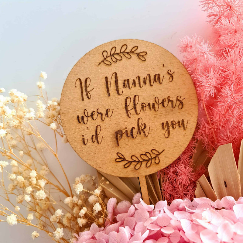 If Nanna's Were Flowers Bouquet Topper - Script