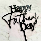Happy Father's Day Cake Topper - Black