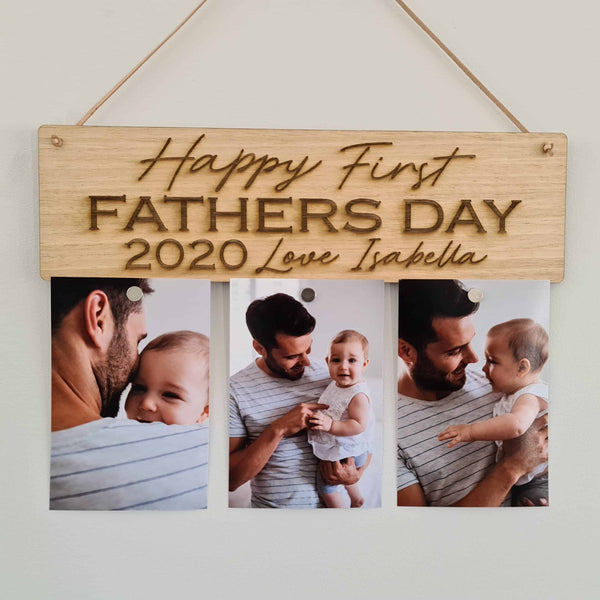 Father's Day Frame - 1st Father's Day 3 Photos