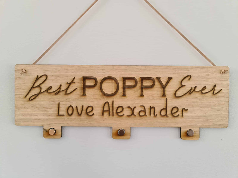 Father's Day Frame - POPPY 3 Photos