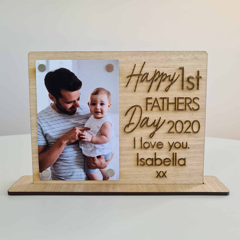 Father's Day Frame - POPPY 1 Photo Stand
