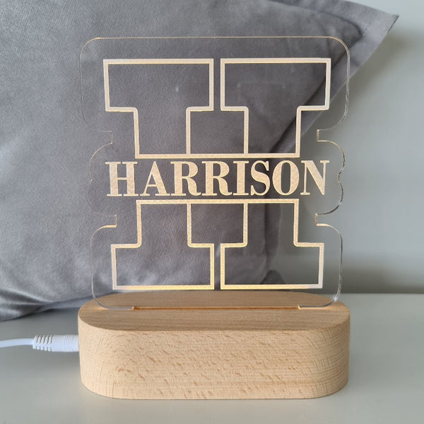 Baby Night Light with Custom Name